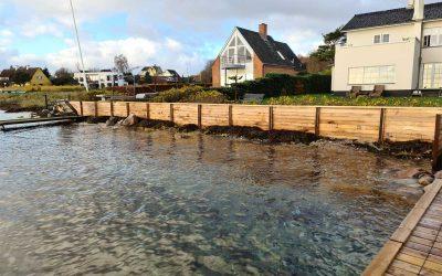 Udførsel af kystsikring Hostrupvej 4 og 6, Espergærde